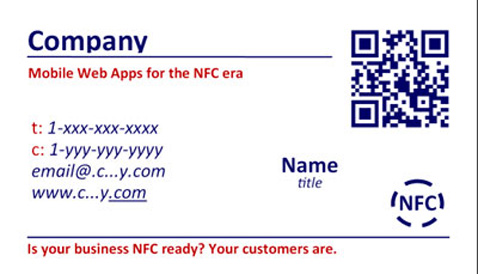 Contactally: the mobile business card with QR code, MS tag